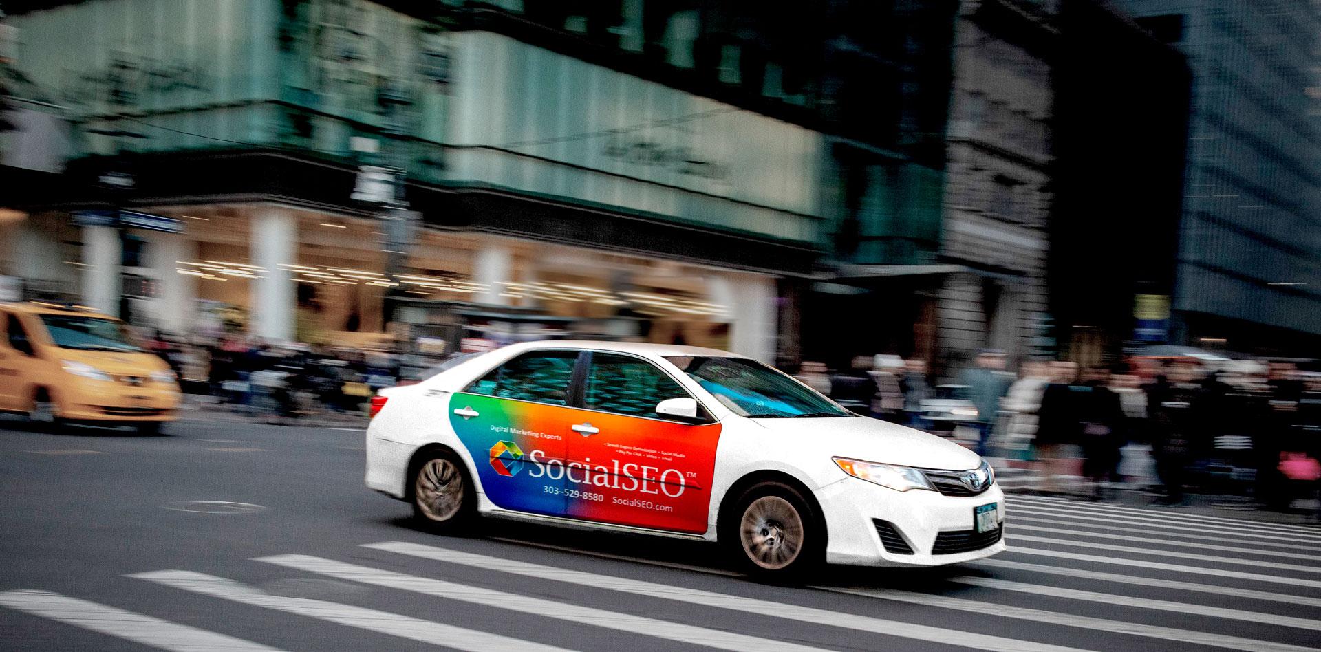 Nickelytics Social SEO Car Wrap Advertising