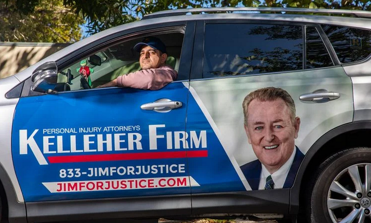 Nickelytics Kelleher Law Firm Side Car Wrap